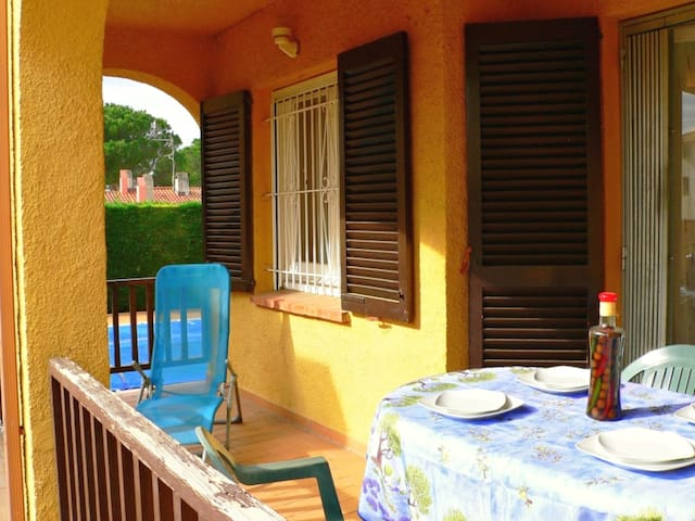 Ibiza apartment, ground floor, with terrace and a, next to the POOL for 4 p