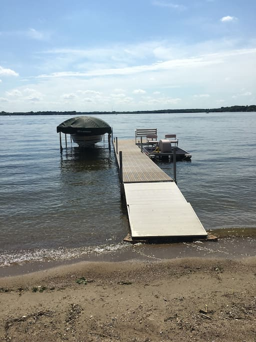 We have a dock with superb swimming area. Use of paddle boat is permitted. We have life jackets.