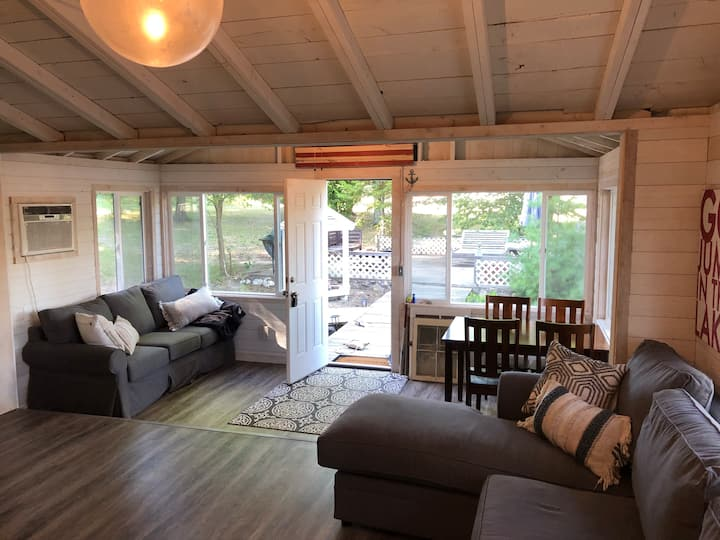 Lakeside in Kewadin with Shared Elk Lake Frontage!