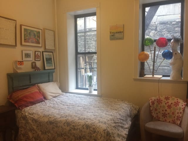 Cozy private room/bathroom/laundry - New York - Appartement
