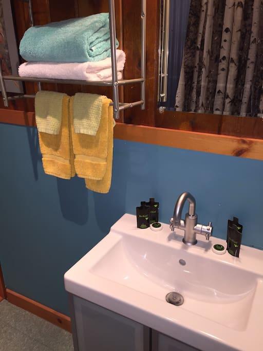 Bathroom detail in Suite 6B