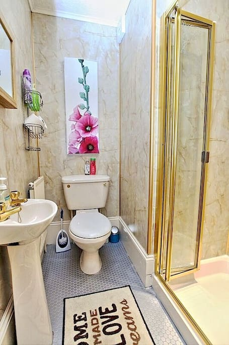 Shared toilet and shower room