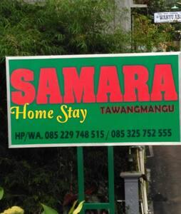 Samara homestay syariah tawangmangu
