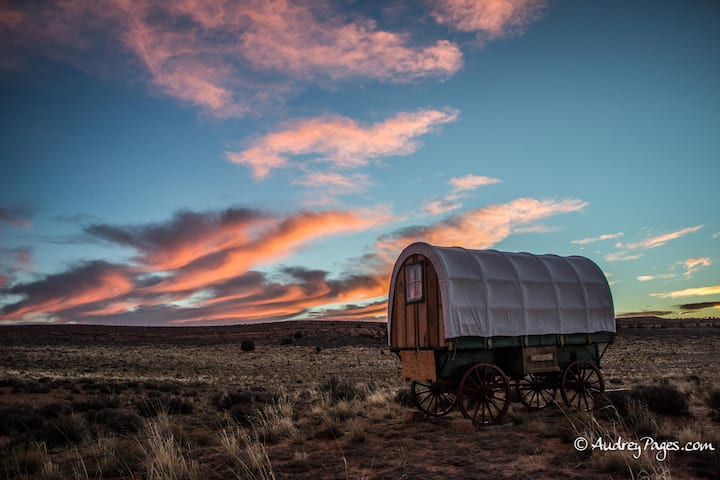 Sheep Wagon 2 Glamping at Shash Dine'