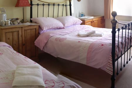 Large  double + single bedroom - Broadstone - House