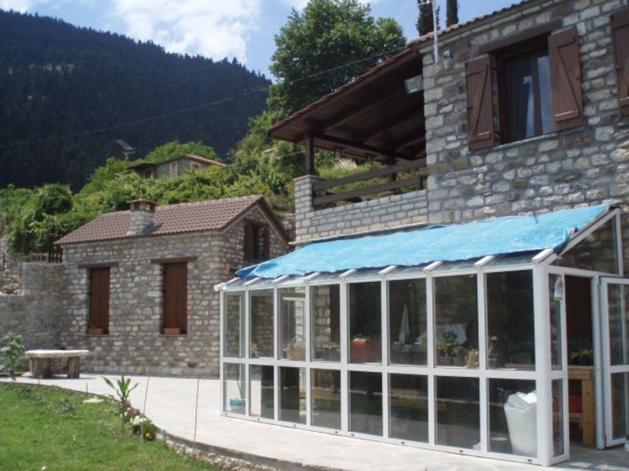 Our house and guesthouse