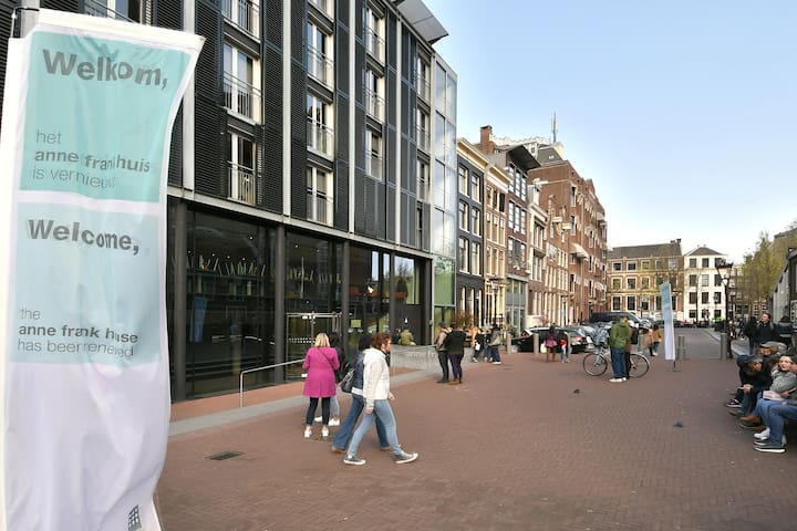 Anne Frank Museum (10 metres walk from apartment)