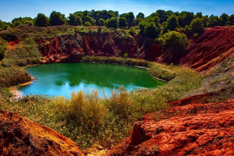 La cava di bauxite, Otranto, 30 km dalla casa.