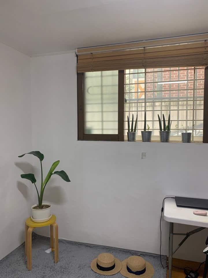 청결하고 은은한 햇빛이 예쁜 스튜디오 원룸