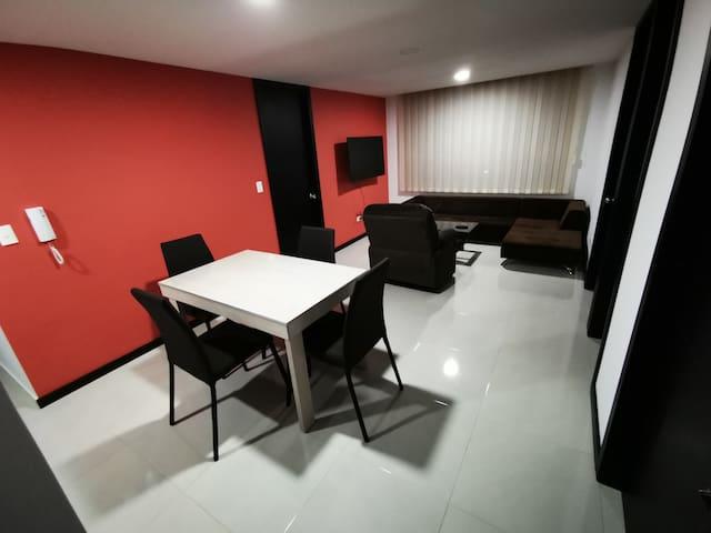 Confortable apartamento con gran vista a la ciudad