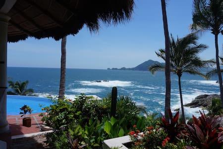 Fully Staffed Oceanfront Villa - แมนซานิลโล