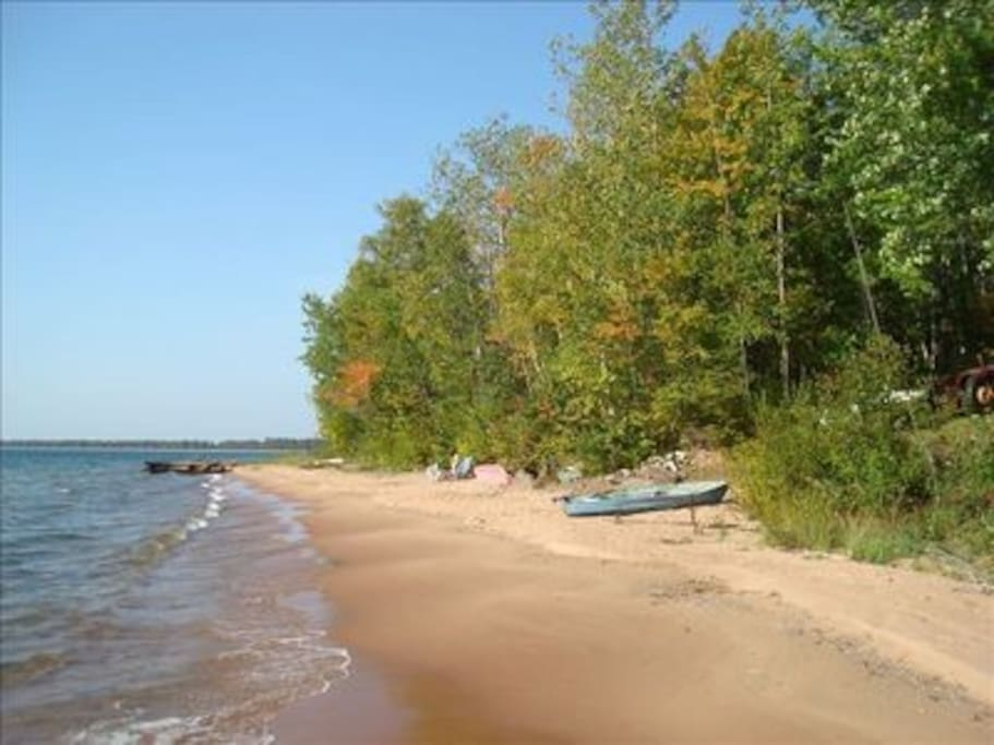 Beach prior to the high lake levels