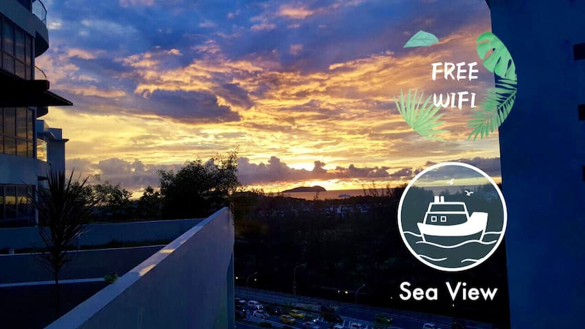Rafflesian Seaview Suite @ IMAGO 2BR 6Pax 海景高级公寓