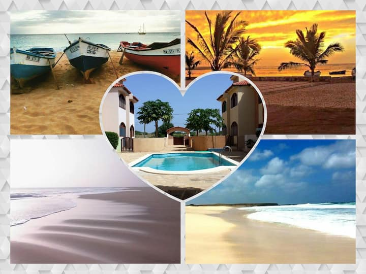 Maio-Cabo Verde-2 pers.+2 residence-swimming pool