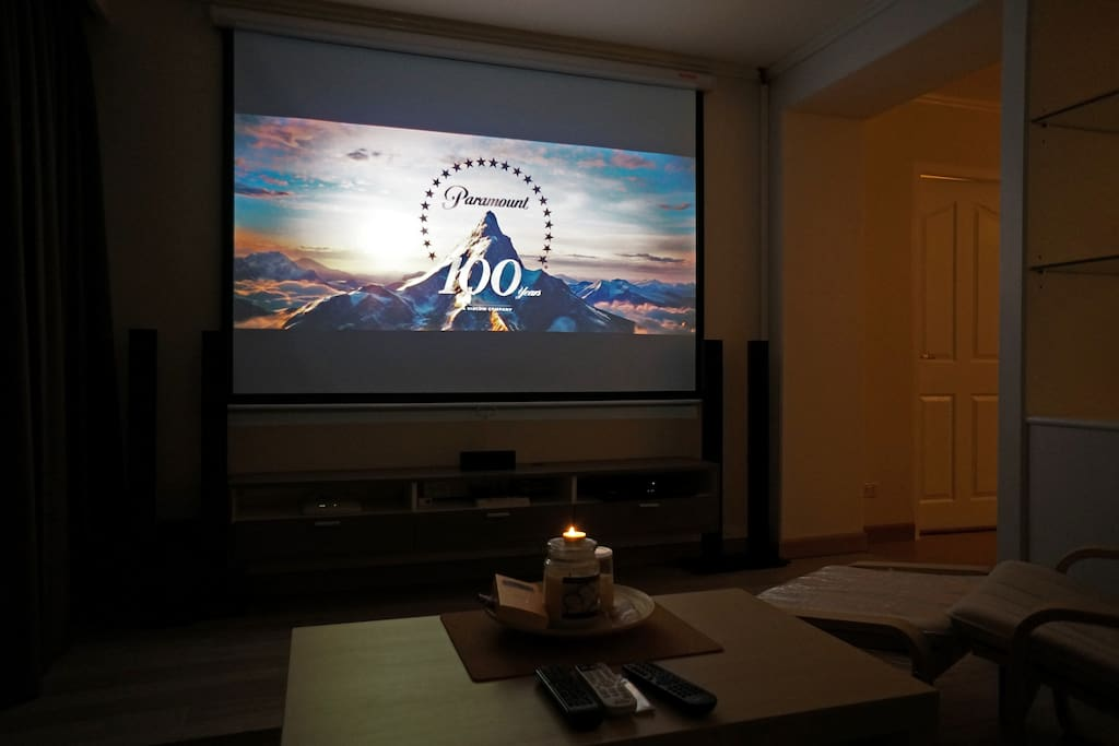 Home Theater System and Projector-Screen