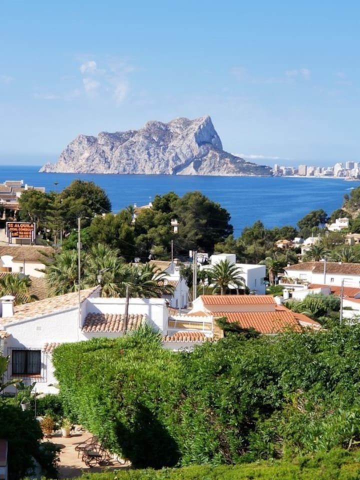 Views from Casa Michael across to Calpe Rock.