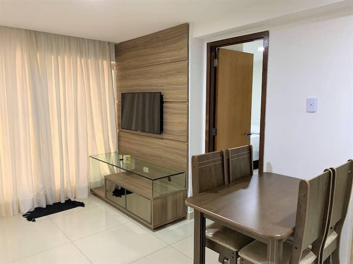 Apartamento Tambau a Beira Mar 002 - Dois quartos com Área Externa