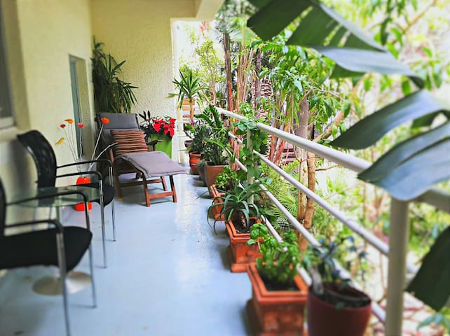 Large private balcony - spacious and tranquil.