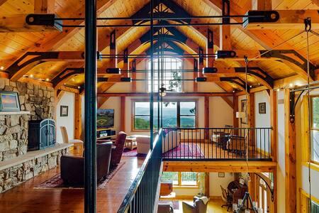 Brush Mountain Lodge - Timber Frame Lodge w/Views