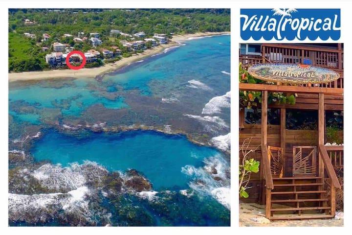"""Villa Tropical - Oceanfront 2 bdrm""""BL""""@ShacksBeach"""