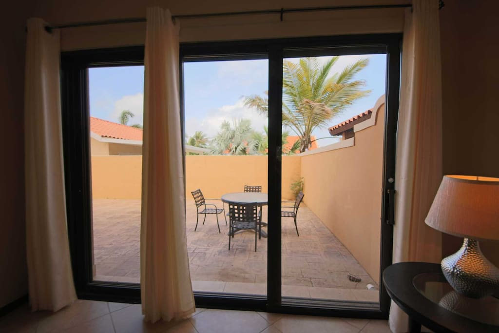 Your access to the fenced patio