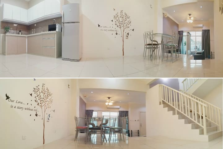 Comfy Clean 2-Storey House (WiFi+Aircon)  槟城双层民宿 - Bayan Lepas - House