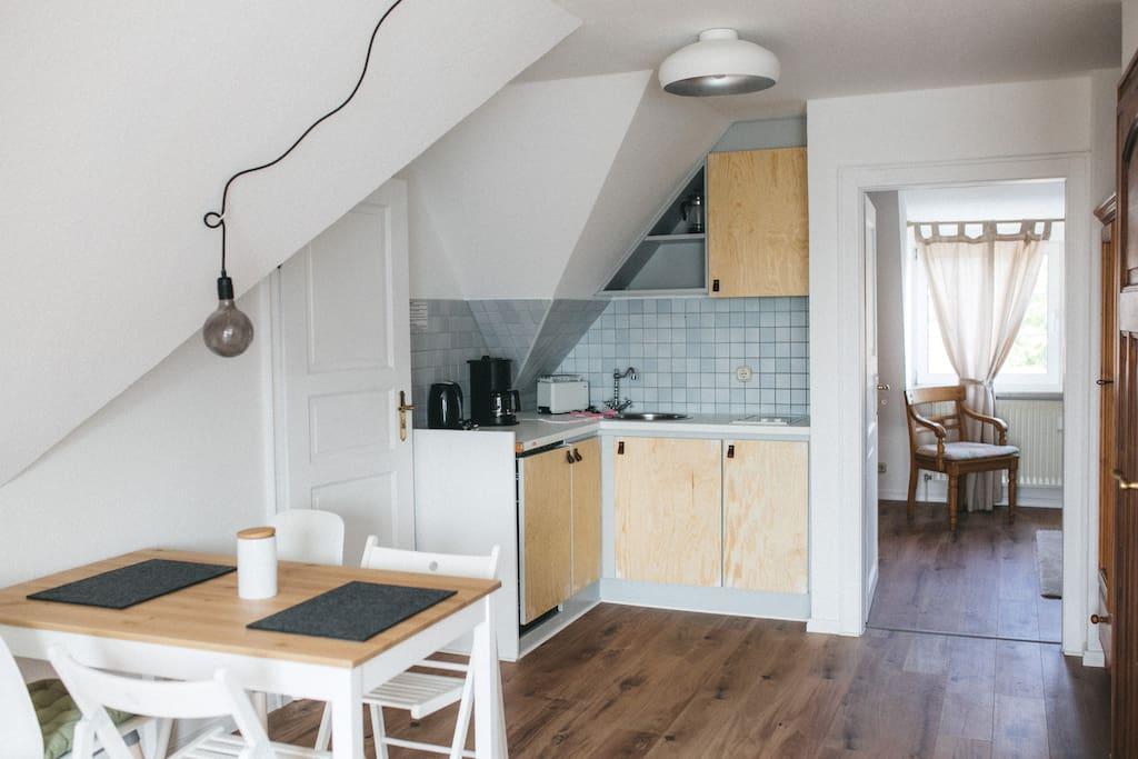 Küchenzeile in der Wohnung Nordsjøn