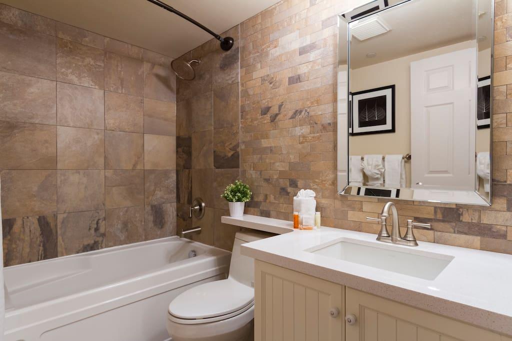 Beautiful, new bathroom