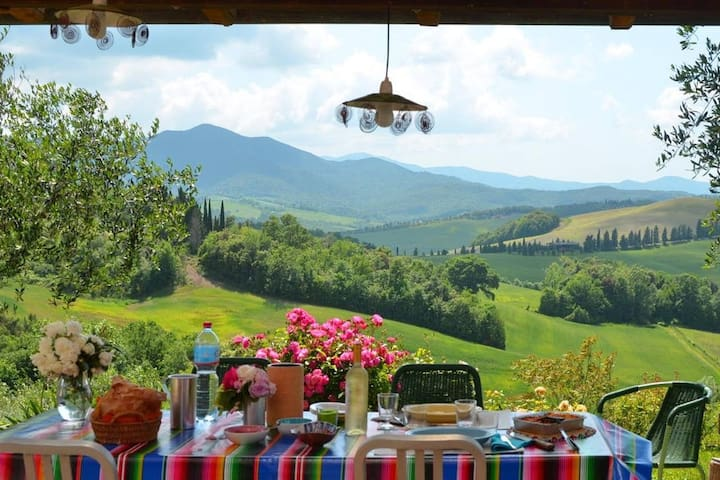 Tuscany villa scented garden stunning view