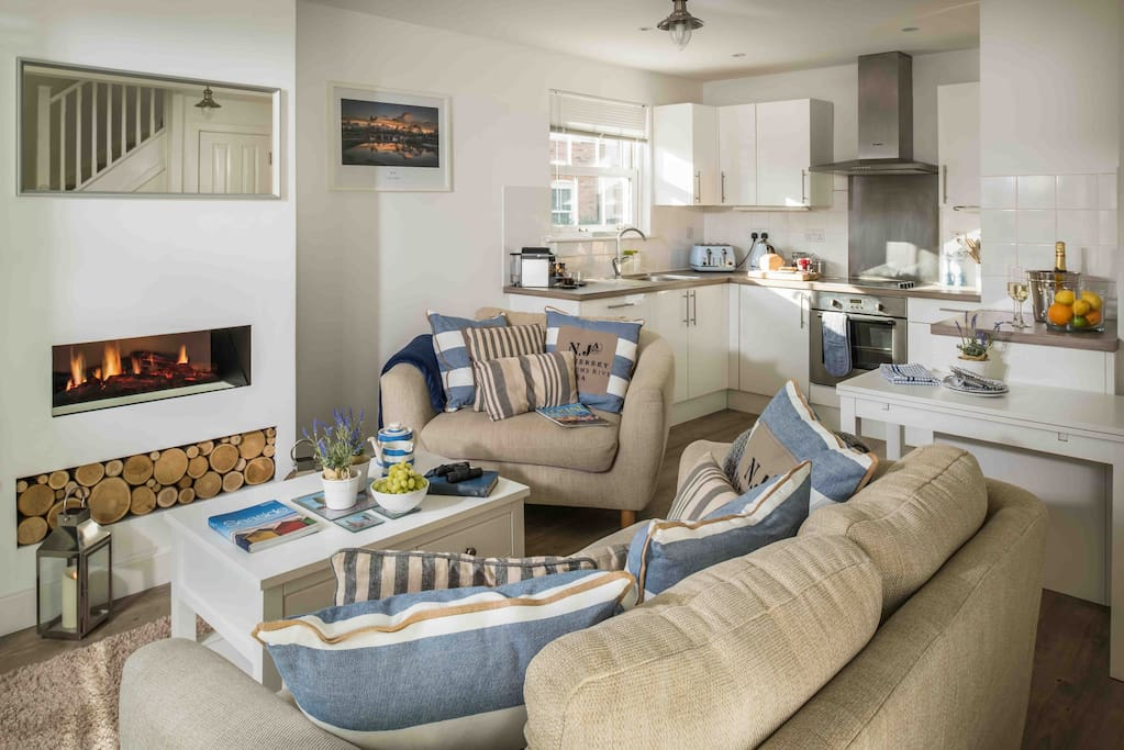 When you enter this cottage, you're in the heart of the home, an open-plan living area