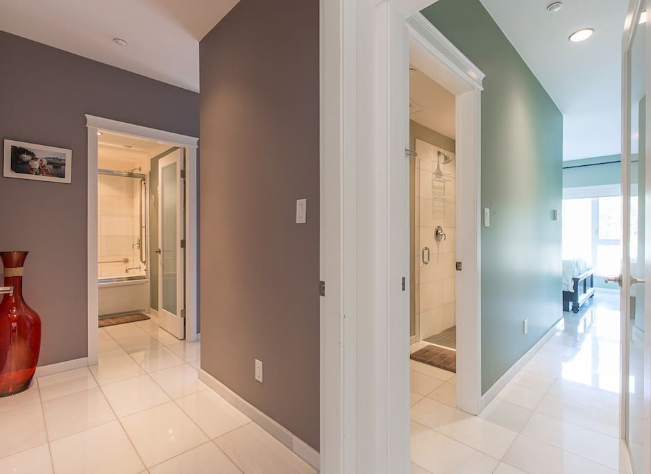 Suite entrance. To your left is the main area and right main bedroom with ensuite.