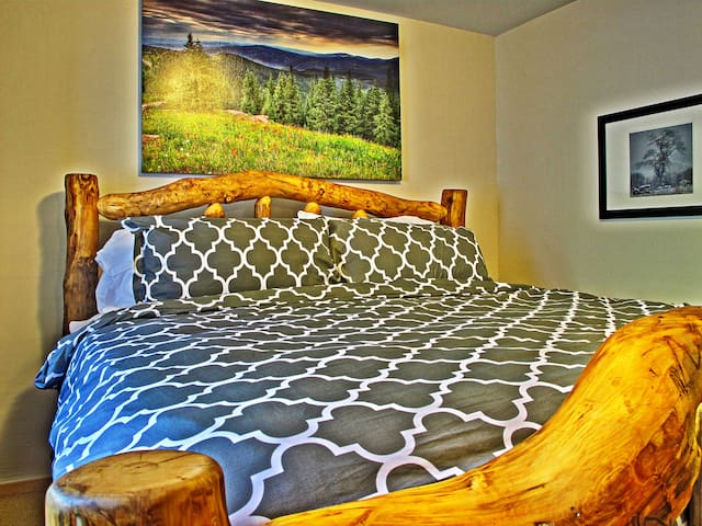 Amazing King Bed with custom beetle pine frame