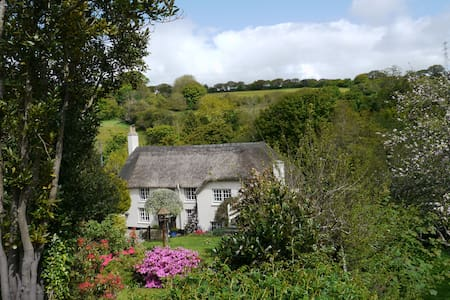 Stunning Thatch Cottage Nr Falmouth - Cusgarne