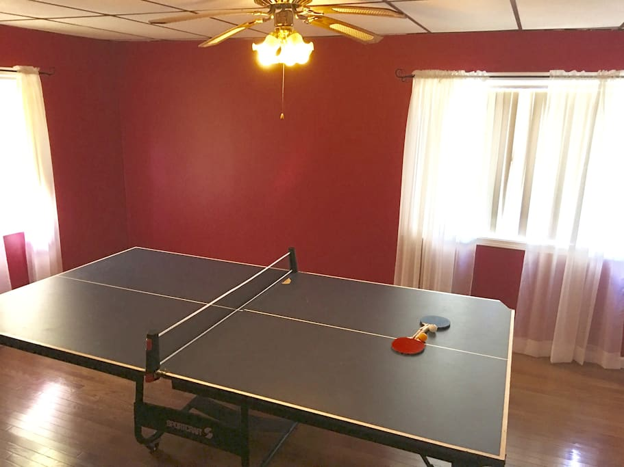 Play some ping pong with your kids and show them who is still the boss! You can also fold up this table and have plenty of room for 2 queen size air mattresses.
