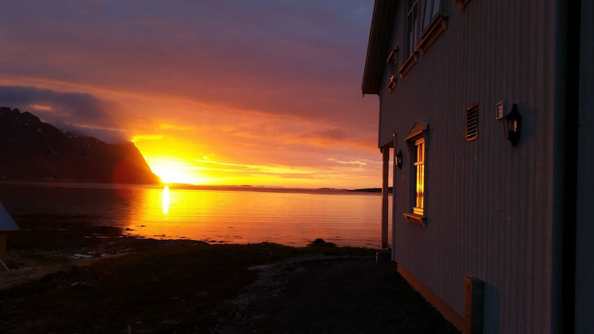 House with midnight sun view - Vågan - House