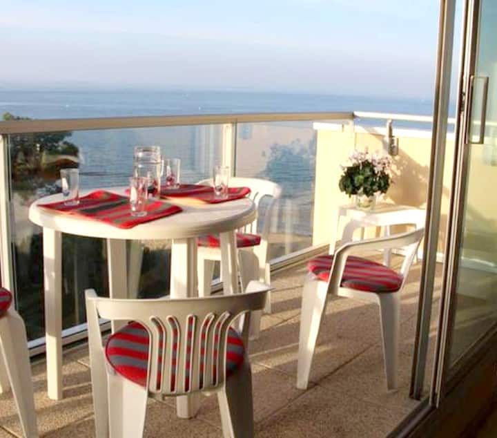 Apartment with one bedroom in Arcachon, with wonderful sea view and balcony - 20 m from the beach