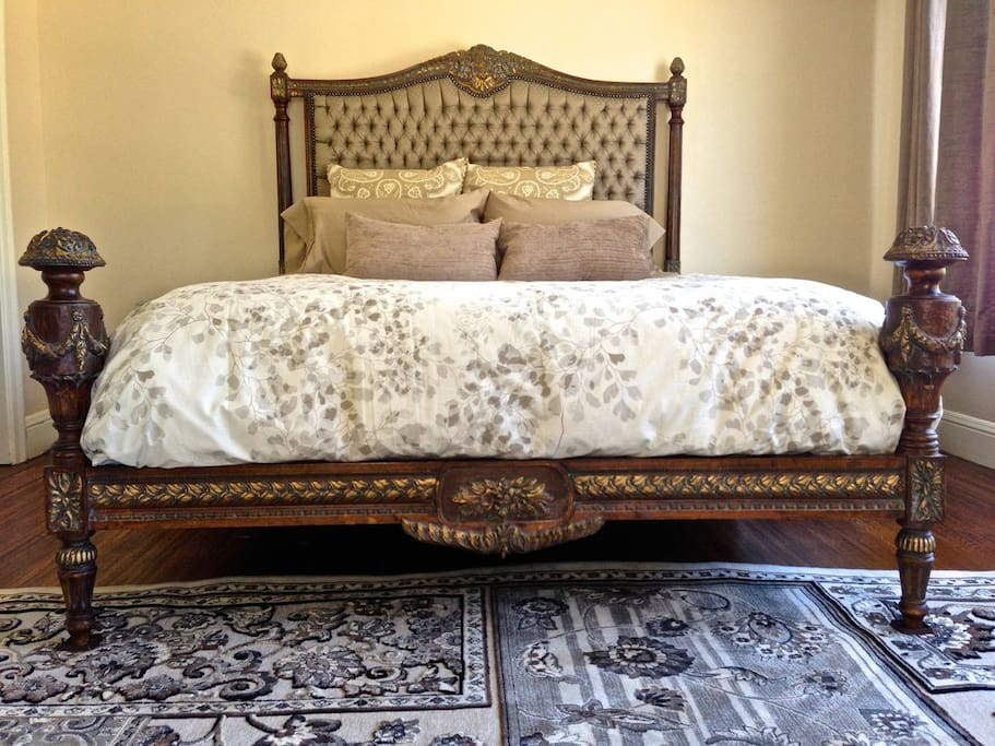 Regal European bed will pamper you with brand new bedding and lots of sun light.