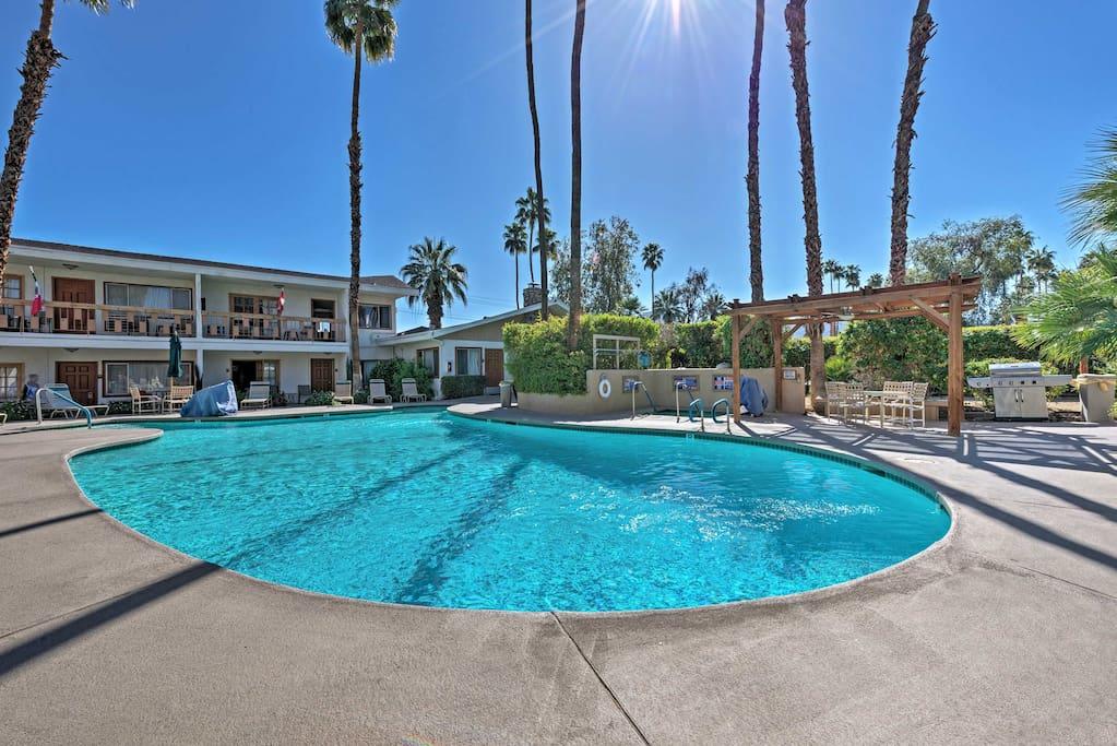 Walk across the street to swim in the community pool.