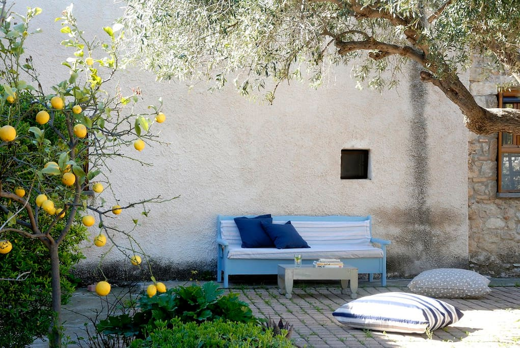 A quite relaxing corner in the Mediterranean garden