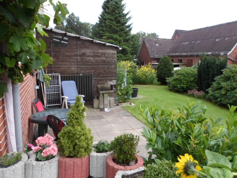 Garten und Terrasse für unsere Gäste