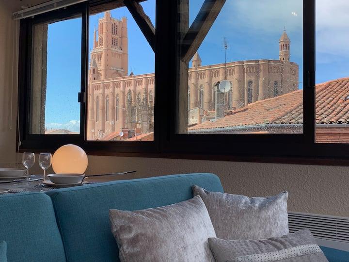 Appartement cœur d'Albi vue cathédrale supérieur