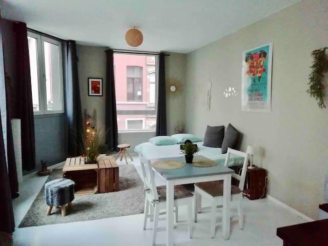 Chambre cosy Barrière /Parvis de st Gilles