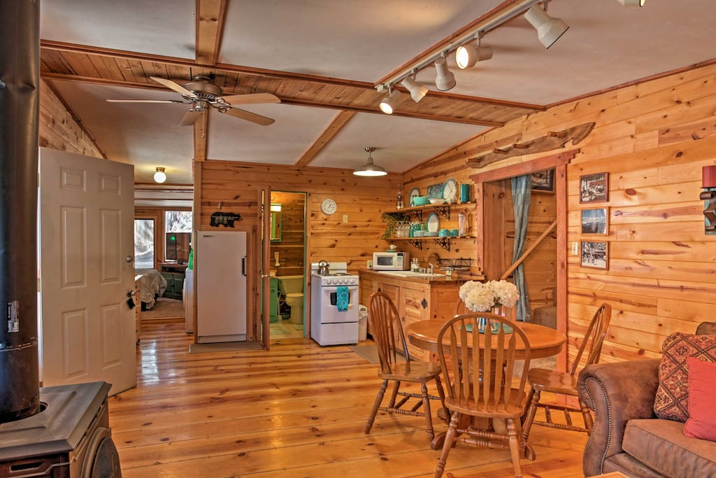 Rest easy inside over 1,000 square feet of cozy cabin-like living space.