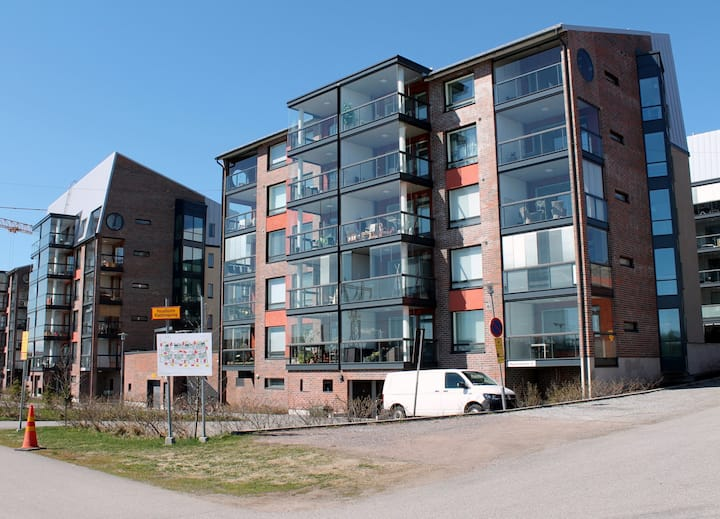 Forenom two bedroom apartment (with sauna and balcony) in Turku