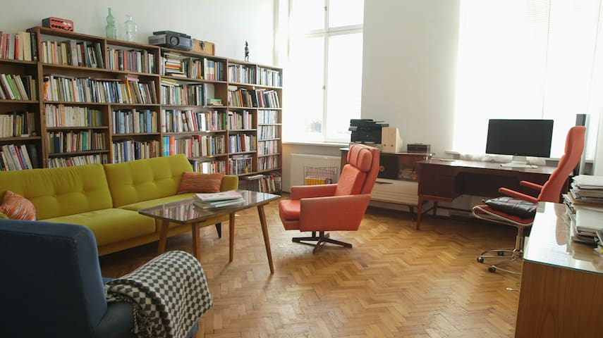 Main living room and workspace