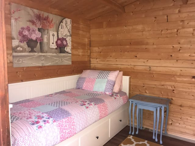 a unique and cosy log cabin