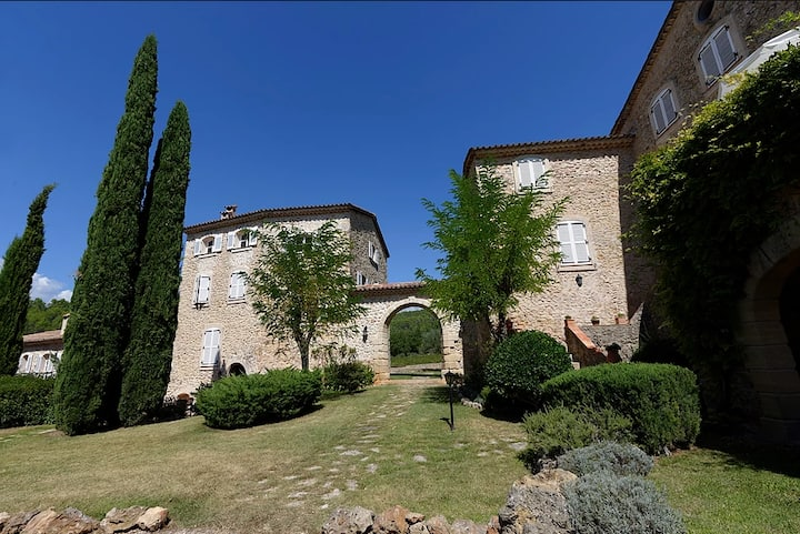 Charming converted chateau with vineyard views