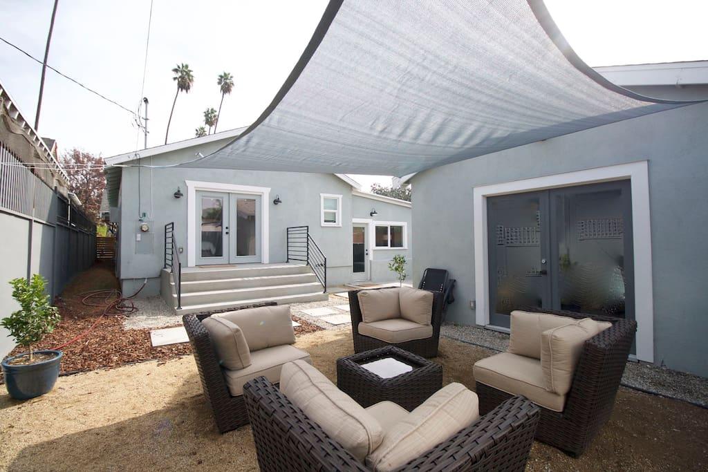 Great backyard lounge