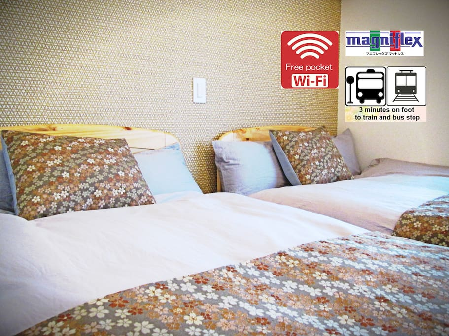 Guest house is conveniently located near bus stop and station !!