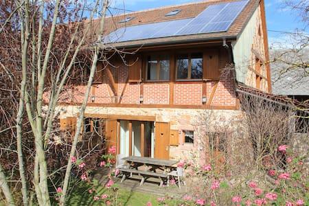 Appartement 75 m² avec terrasse,jardin, trampoline - Ungersheim - Apartemen